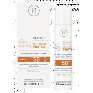 РЕНОФАЗ Водостойкий солнцезащитный крем SPF50+  RENOPHASE Cell's Cycle Protect   50ml